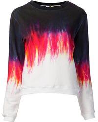 MSGM Ombre Dye Design Sweater - Lyst