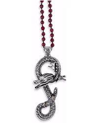 Platadepalo - Animalia Silver & Zircon Dragon Necklace - Lyst