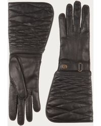 Bally   Quilted Leather Gloves   Lyst