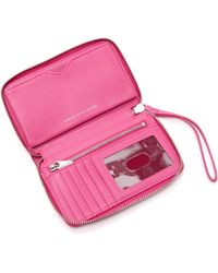 Marc By Marc Jacobs - New Q Wingman Wallet - Bright Rosa - Lyst