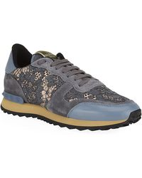 Valentino Lace Trainer - Lyst