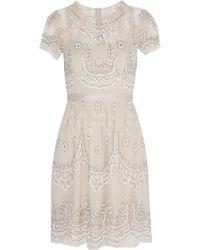 Needle & Thread Embellished Tulle Mini Dress - Lyst