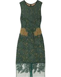 Vera Wang Embellished Guipure Lace Dress - Lyst