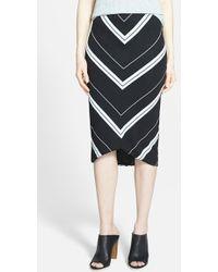 Trouvé Pointed Hem Tube Skirt - Lyst