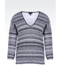 Armani Jeans V-Neck Sweater In Cotton - Lyst