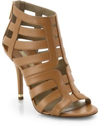 Michael Kors Caleb Leather Cage Sandals - Lyst
