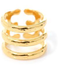 Aurelie Bidermann Esteban Goldplated Ring gold - Lyst