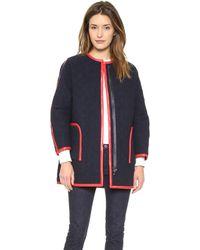 Rachel Comey Kindred Coat Navyred - Lyst