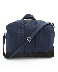 Sandqvist Aki Navy Blue Weekend Bag - Lyst
