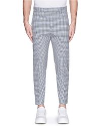 3.1 Phillip Lim Gingham Check Wool Pants - Lyst