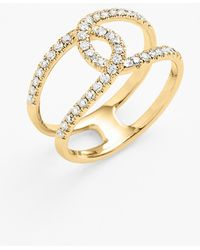 Bony Levy 'Knot' Diamond Cocktail Ring - Lyst