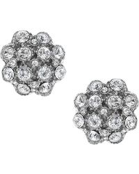 Nina - Shirley Crystal Cluster Button Earrings - Lyst