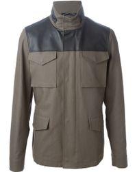 Lanvin Panelled Sport Jacket - Lyst