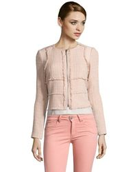 Rebecca Taylor Nude Patched Tweed Jacket - Lyst