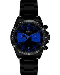 Bamford Watch Department - Black Tudor Chrono With Royal Blue Detailing - Lyst