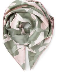 Valentino Green Camouflage Scarf - Lyst