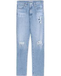 Alexa Chung For AG Denim Pants blue - Lyst