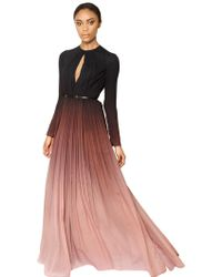 Elie Saab Gradient Silk Georgette Dress - Lyst