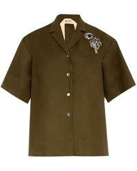 N°21 Embellished Cotton Jacket - Lyst