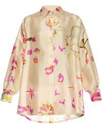 Missoni Floral-Print Silk-Satin Blouse - Lyst