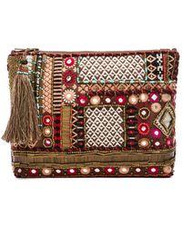 Antik Batik Molly Embellished Pouch - Lyst