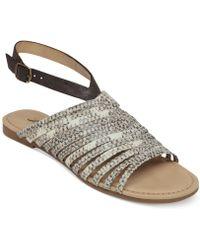 Lucky Brand Women'S Cabette Strappy Flat Sandals - Lyst