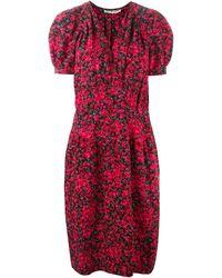 Yves Saint Laurent Vintage Flower Print Dress - Lyst