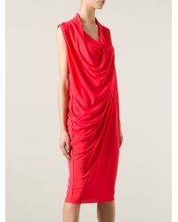 Lanvin Draped Dress - Lyst