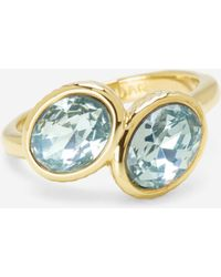 Cole Haan | Double Swarovski Stone Ring | Lyst
