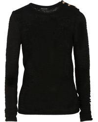 Balmain Ribbedknit Woolblend Sweater - Lyst