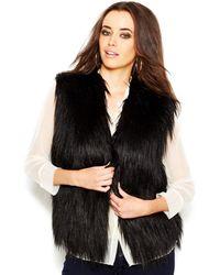 Guess Draped Faux-fur Vest - Lyst