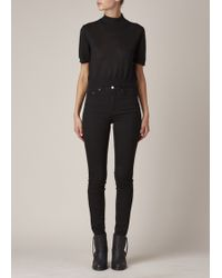 Acne   Black Pin Jeans   Lyst