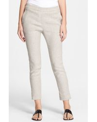 Theory 'Thaniel' Linen Blend Crop Pants - Lyst