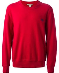 Burberry Brit Embroidered Logo Crew Neck Sweater - Lyst