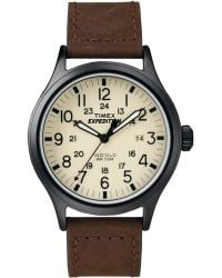 Timex - Men's Expedition Scout Brown Leather Strap 40mm T49963um - Lyst