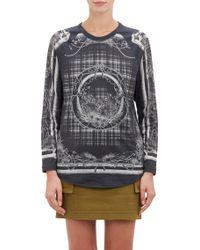Balmain Leopard  Plaid T-shirt - Lyst