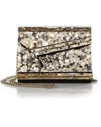 Jimmy Choo Candy Sequined Acrylic Clutch - Lyst