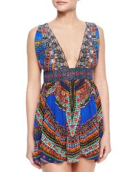 Camilla Ancient Paj Deep-V Top multicolor - Lyst