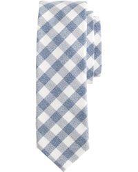 J.Crew Textured Cotton Tie In Gingham - Lyst