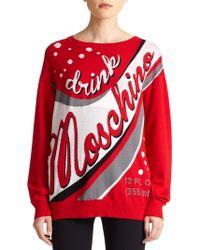 Moschino Wool Logo Sweater - Lyst