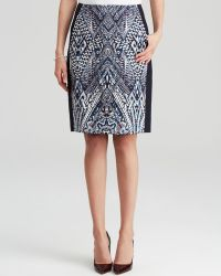 Adrianna Papell - Abstract Print Pencil Skirt - Lyst