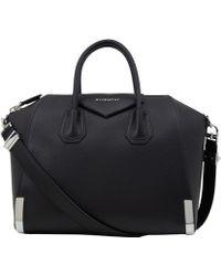 Givenchy Medium Black Antigona Waxy Leather Handbag - Lyst