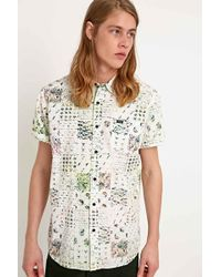 RVCA - Fletcher Blotter Short Sleeve Shirt In Ivory - Lyst