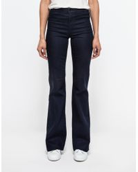 J Brand Tailored High-Rise Flare blue - Lyst