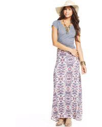 American Rag - Floral Maxi Skirt - Lyst
