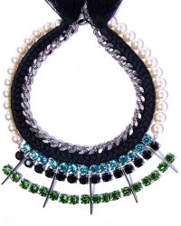 Joomi Lim - Pearl Crystal Braided Necklace - Lyst