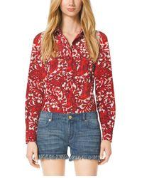 Michael Kors Paisley Button-Down Shirt - Lyst