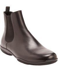 Prada Plain-Toe Chelsea Boots - Lyst