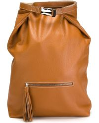 Erika Cavallini Semi Couture - 'shelby' Leather Backpack - Lyst
