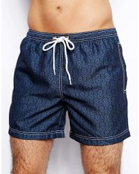 Jack Wills - Geo Swim Shorts - Lyst